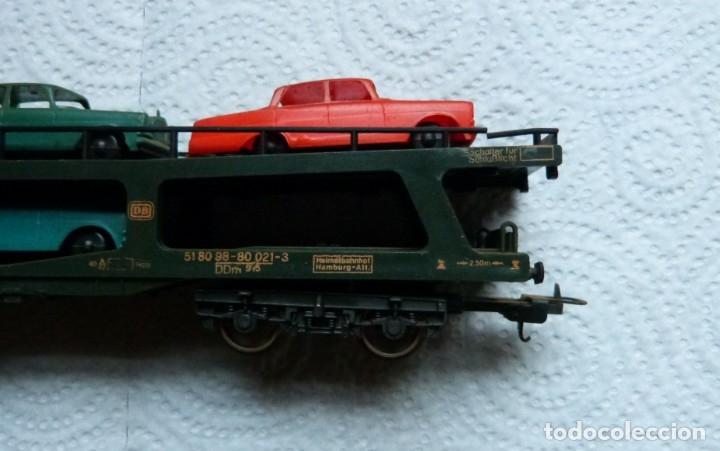 Trenes Escala: VAGON LIMA H0 PORTACOCHES REF. 9054 Y TRS TRAMOS RECTOS 222 MM - Foto 5 - 141603182
