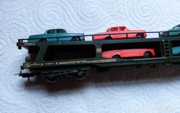Trenes Escala: VAGON LIMA H0 PORTACOCHES REF. 9054 Y TRS TRAMOS RECTOS 222 MM - Foto 6 - 141603182