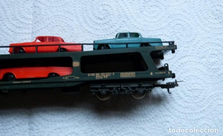 Trenes Escala: VAGON LIMA H0 PORTACOCHES REF. 9054 Y TRS TRAMOS RECTOS 222 MM - Foto 4 - 141603182