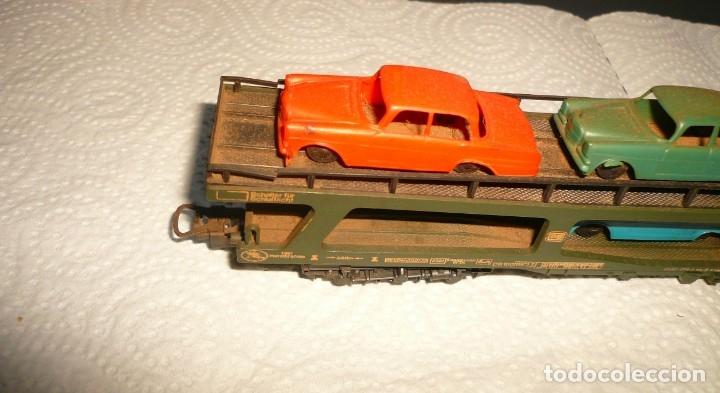 Trenes Escala: VAGON LIMA H0 PORTACOCHES REF. 9054 Y TRS TRAMOS RECTOS 222 MM - Foto 11 - 141603182