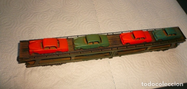 Trenes Escala: VAGON LIMA H0 PORTACOCHES REF. 9054 Y TRS TRAMOS RECTOS 222 MM - Foto 2 - 141603182