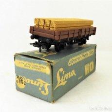 Trenes Escala: LIMA VAGÓN CON CARGA MADERA. CAJA ORIGINAL. Lote 160817970