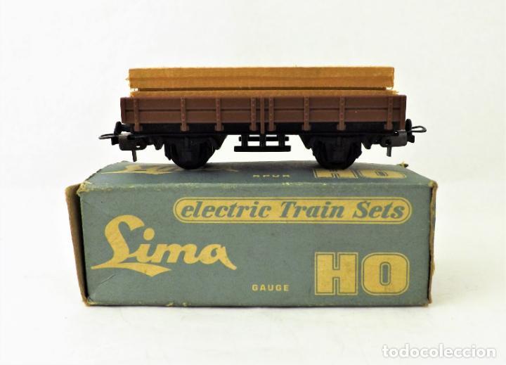 Trenes Escala: Lima Vagón con carga madera. Caja original - Foto 2 - 160817970