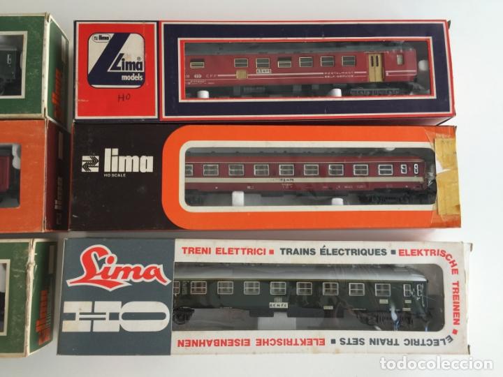 Trenes Escala: LOTE DE 6 VAGONES LIMA ESCALA H0 REF. 9115 , 9311, 9117 , 9207 , 9245, 9314 , EN CAJA - Foto 4 - 166694866