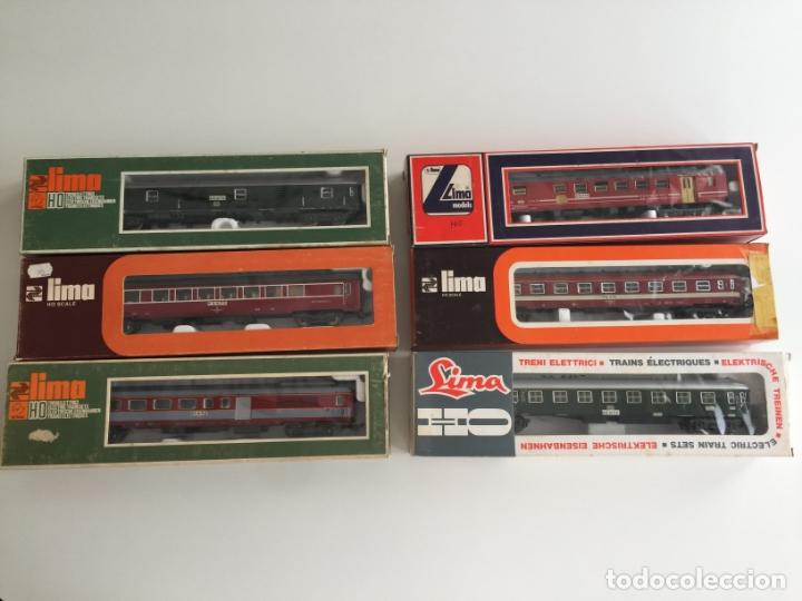 LOTE DE 6 VAGONES LIMA ESCALA H0 REF. 9115 , 9311, 9117 , 9207 , 9245, 9314 , EN CAJA (Juguetes - Trenes a Escala H0 - Lima H0)