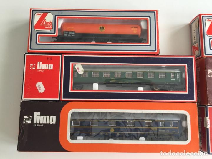 Trenes Escala: LOTE DE 6 VAGONES LIMA ESCALA H0 REF. 9325 , 9203 , 9142 , 9212, 2914 , 2872 , EN CAJA - Foto 2 - 166695062