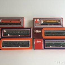 Trenes Escala: LOTE DE 6 VAGONES LIMA ESCALA H0 REF. 9325 , 9203 , 9142 , 9212, 2914 , 2872 , EN CAJA. Lote 166695062