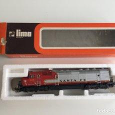 Trenes Escala: LOCOMOTORA SANTA FE , DIESEL ELECTRICA DE LIMA , RENFE EN CAJA REF. 8071 L . Lote 166695794