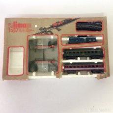 Trenes Escala: TREN ELÉCTRICO LIMA H0 1:87 - CAJA INCOMPLETA - ITALY. Lote 174079664
