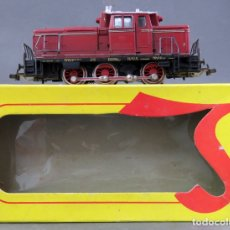 Trenes Escala: LOCOMOTORA MARKLIN H0 EN CAJA LIMA FUNCIONA. Lote 175994654
