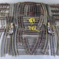 Trenes Escala: LOTE VÍAS TREN LIMA H0 VARIOS TAMAÑOS CURVAS RECTAS DESVÍOS TRAMOS CORTOS. Lote 176272569