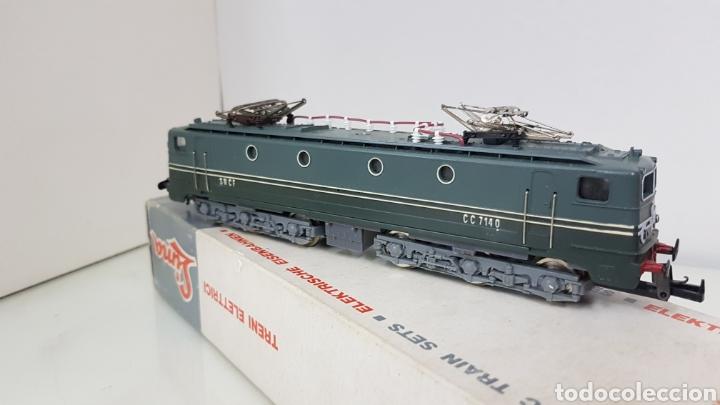 Trenes Escala: Lima 8029 cl locomotora de la SNCF francesa de color verde plástico CC 714 0 escala H0 de 22,5 cm - Foto 3 - 178869208