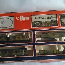 Trenes Escala: LIMA H0, EQUIPO CIRCUITO TREN MILITAR MILITARY TRAIN . COMO NUEVO,CONTINUA ,VÁLIDO IBERTREN,ROCO,ETC. Lote 180272881