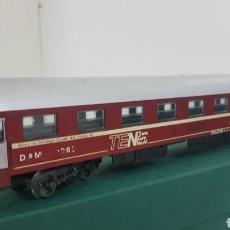 Trenes Escala: LIMA VAGÓN TRANS EUROPE ALEMANIA ESCALA H0 DE 27 CM GRANATE Y PLATEADO. Lote 181483901