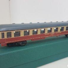 Trenes Escala: VAGÓN LIMA TRANS EUROPE EXPRESS ESCALA H0 DE 27 CM ROJO Y CREMA. Lote 181485327