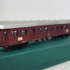 Trenes Escala: LIMA VAGÓN DE PRIMERA CLASE DE LA DSB ESCALA H0 CORRIENTE CONTINUA DE 22 CENTÍMETROS GRANATE. Lote 181578413