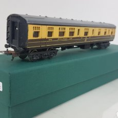 Trenes Escala: VAGÓN LIMA RESTAURANTE GWR AMARILLO Y MARRÓN DE 24CM CONTINUA. Lote 182496903