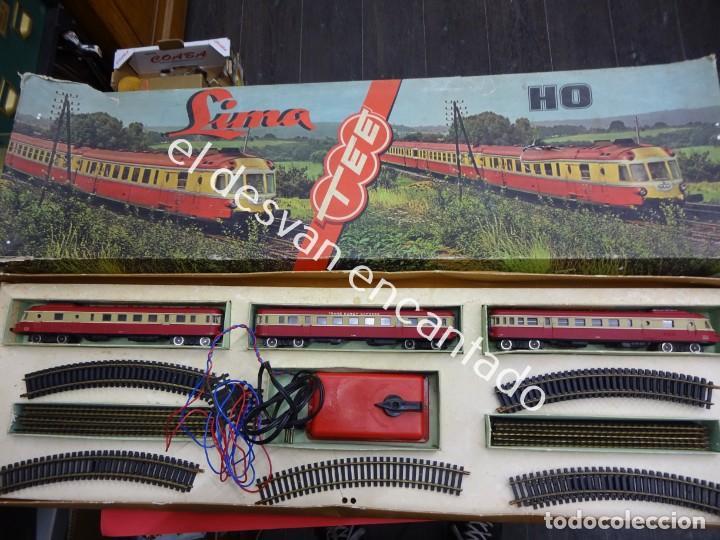 Trenes Escala: Antiguo tren LIMA escala H0 en caja original. VER FOTOS - Foto 7 - 183471195