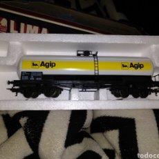Trenes Escala: CARRO CISTERNA AGIP DE LA CASA LIMA ESCALA H0 NUEVO. Lote 187186517