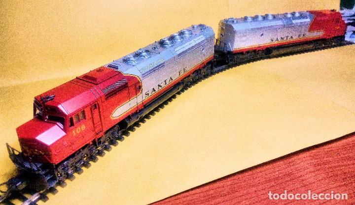 Trenes Escala: LIMA, LOCOMOTORA DIESEL SANTA FE, MOD. 106, TÁNDEM - Foto 3 - 189428412
