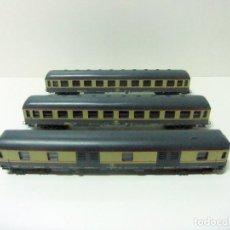 Trenes Escala: LOTE 3 VAGONES LIMA FS (1 VAGÓN EQUIPAJE FIRENZE + 2 DE PASAJEROS MILANO) ESCALA H0 HO COCHE TREN. Lote 192383595