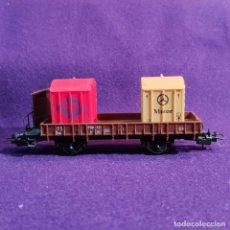 Trenes Escala: VAGON DE MERCANCIAS. CON DOS CONTAINER DE AGFA Y MOTOR MERCEDES. LIMA ITALY. ESCALA H0. TREN.. Lote 193939292