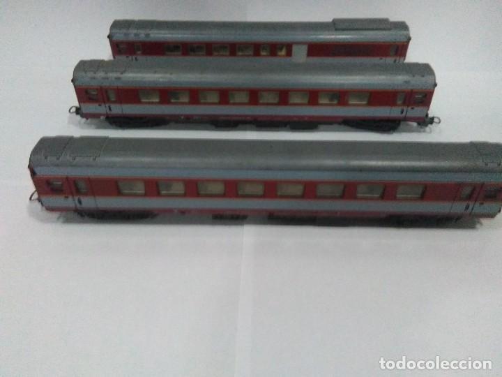 LOTE 3 VAGONES ESCALA H0 LIMA USADOS (Juguetes - Trenes a Escala H0 - Lima H0)