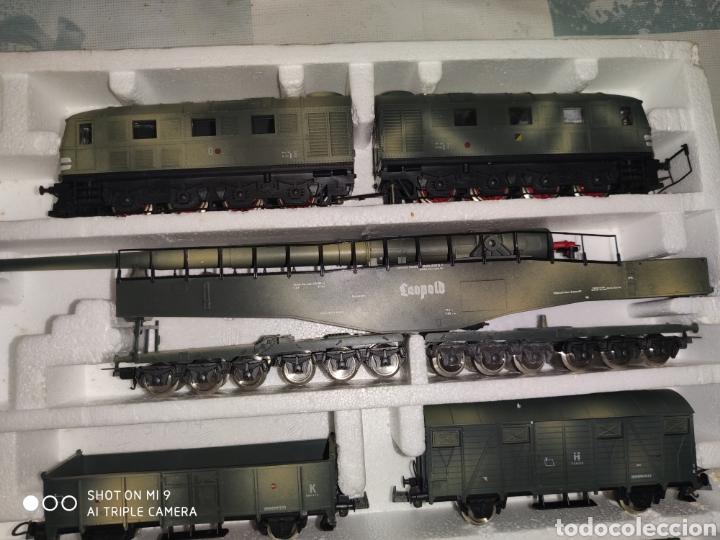 Trenes Escala: LEOPOLD, LIMA GOLDEN SERIES, TREN MILITAR ALEMAN DE LA SEGUNDA GUERRA MUNDIAL. PERFECTO Y SIN USO. - Foto 7 - 194003138