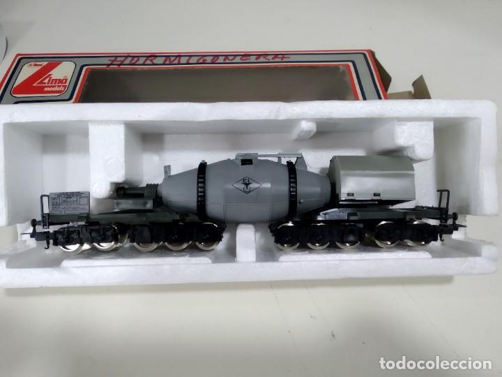Trenes Escala: antiguo vagon de lima en caja h0 hormigonera - Foto 3 - 222000506