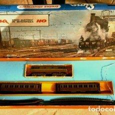Trenes Escala: TREN ELECTRICO LIMA HO 2801 (AÑOS 60) TRENI ELETTRICI IN MINIATURA MADE IN ITALY - VICENZA –BATERIA. Lote 204352895