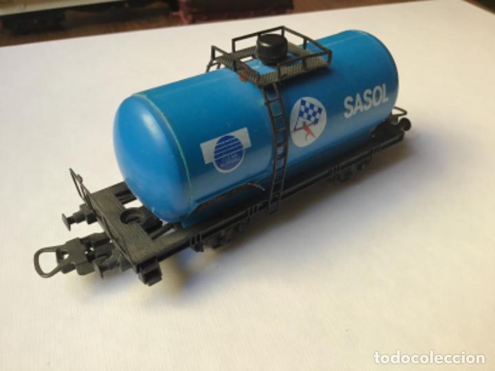Trenes Escala: H0 Lima. Vagón cisterna Sasol. Rareza, único en España. Ref 302710 - Foto 2 - 214748902
