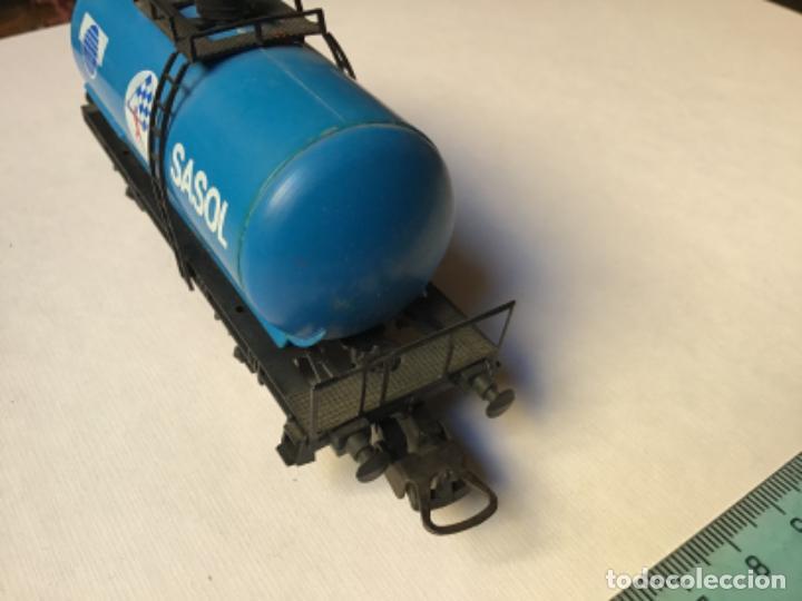 Trenes Escala: H0 Lima. Vagón cisterna Sasol. Rareza, único en España. Ref 302710 - Foto 3 - 214748902