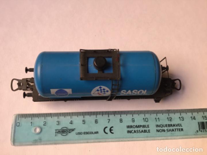 Trenes Escala: H0 Lima. Vagón cisterna Sasol. Rareza, único en España. Ref 302710 - Foto 5 - 214748902