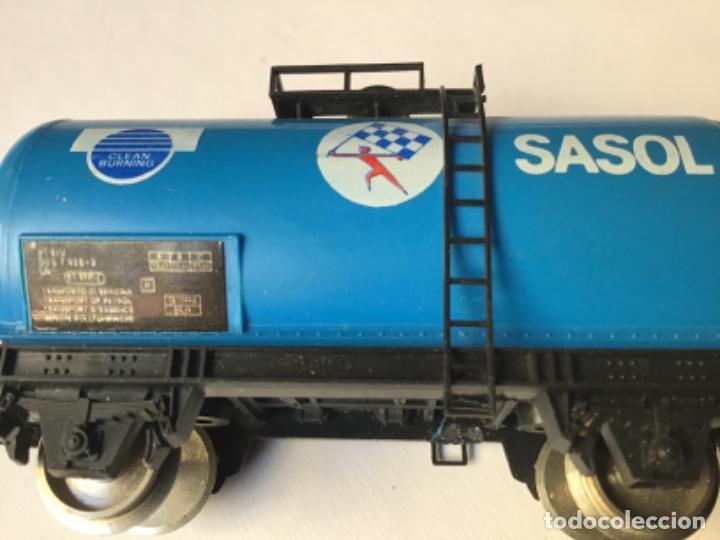 Trenes Escala: H0 Lima. Vagón cisterna Sasol. Rareza, único en España. Ref 302710 - Foto 7 - 214748902