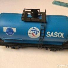 Trenes Escala: H0 LIMA. VAGÓN CISTERNA SASOL. RAREZA, ÚNICO EN ESPAÑA. REF 302710. Lote 214748902