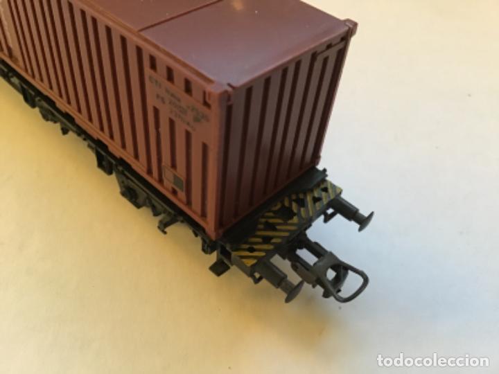 Trenes Escala: Lima H0. Vagon borde bajo con contenedores. - Foto 2 - 214859401