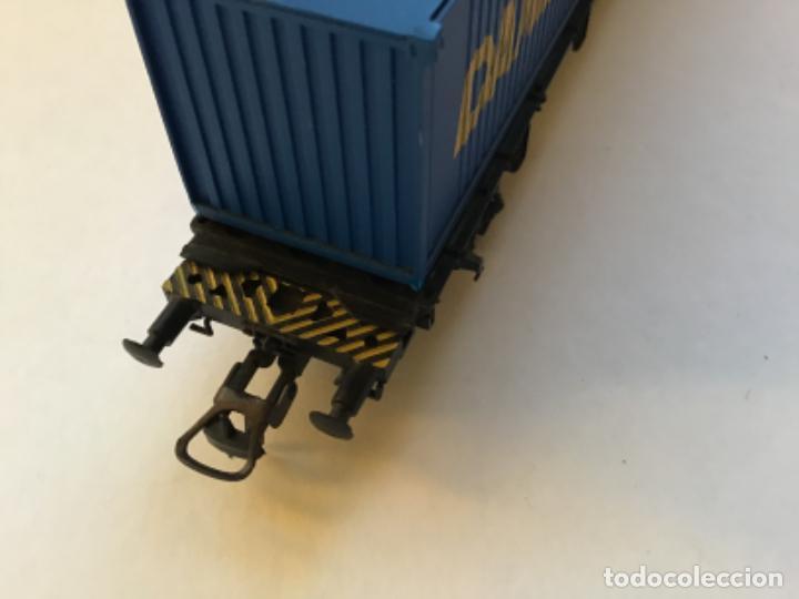 Trenes Escala: Lima H0. Vagon borde bajo con contenedores. - Foto 3 - 214859401