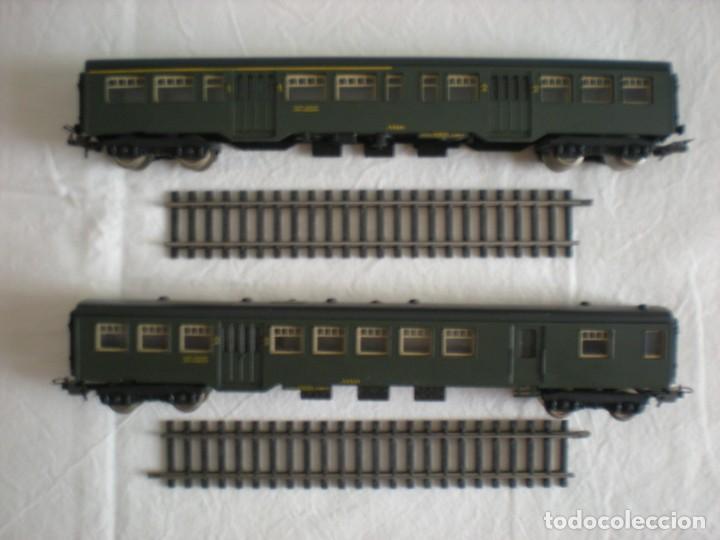Trenes Escala: Lote # 2 Vagones Viajeros Tren Eléctrico Lima HO & Micro Model N (1964) - Foto 2 - 217820567