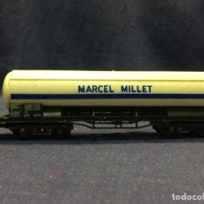Trenes Escala: VAGON TRANSPORTE LIQUIDOS MARCEL MILLET TREN LIMA ITALY ESCALA H0 5,5X20X3,5CM. Lote 218920641
