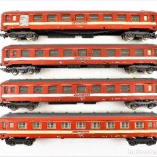 Trenes Escala: LIMA H0 CONJUNTO LE CAPITOLE DE CUATRO COCHES DE PASAJEROS. Lote 219838605