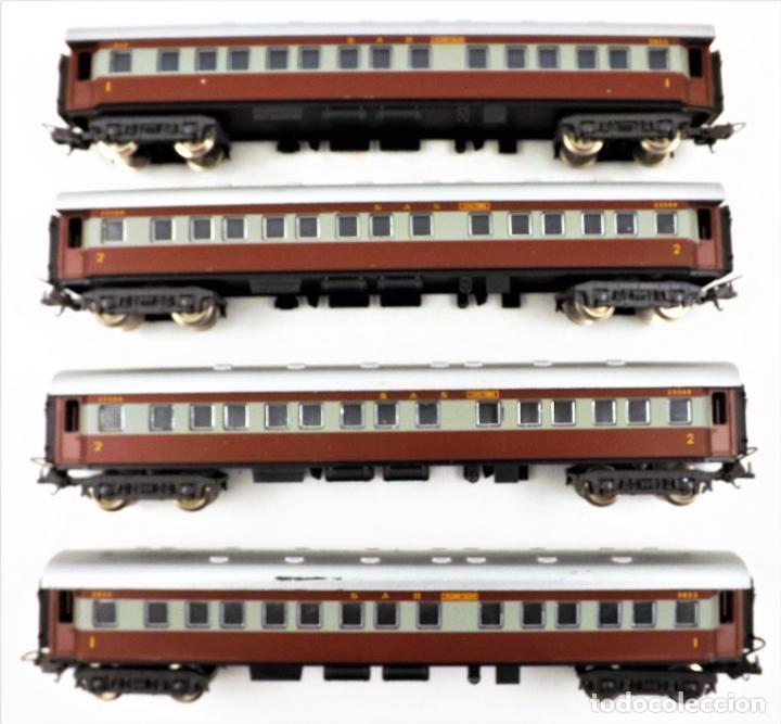 Trenes Escala: Lima H0 Conjunto de cuatro coches de pasajeros de los ferrocarriles Sudafricanos - Foto 4 - 219839126