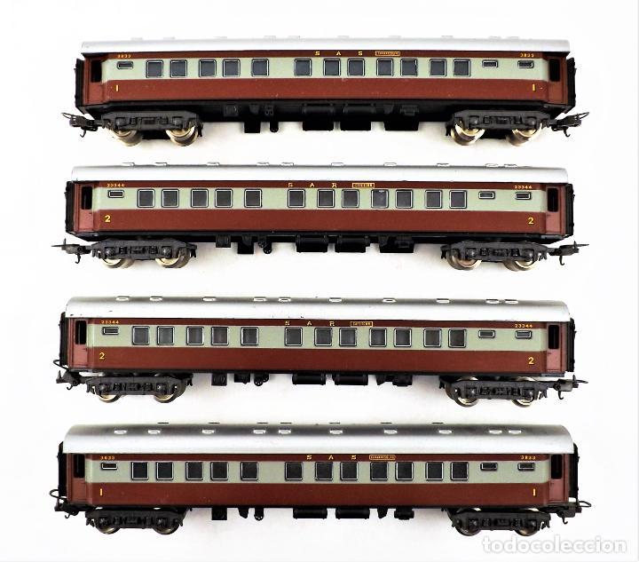 LIMA H0 CONJUNTO DE CUATRO COCHES DE PASAJEROS DE LOS FERROCARRILES SUDAFRICANOS (Juguetes - Trenes a Escala H0 - Lima H0)