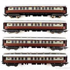 Trenes Escala: LIMA H0 CONJUNTO DE CUATRO COCHES DE PASAJEROS DE LOS FERROCARRILES SUDAFRICANOS. Lote 219839126