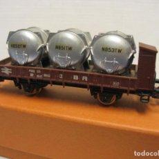 Trenes Escala: VAGON MERCANCIAS DE CARGA CON VIDONES LIMA. Lote 221968800