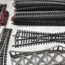 Trenes Escala: LOTE PARA TRENES ELECTRICOS DE VIAS RAIL PUENTE - MARCA LIMA ITALY. Lote 222547783