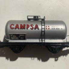 Trenes Escala: VAGÓN CISTERNA DE TREN ELÉCTRICO LIMA ESCALA H0 CAMPSA. Lote 235990945