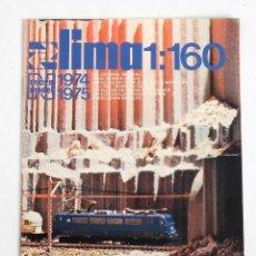Trenes Escala: CATÁLOGO DE TRENES LIMA 1:160. 1974-1975. Lote 242105580