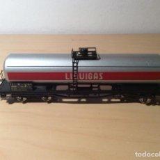 Trenes Escala: LIMA. VAGÓN CISTERNA LIQUIGAS. EN SU CAJA ORIGINAL.. Lote 245004365