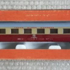 Trenes Escala: VAGÓN PASAJEROS, TRANS EUROP EXPRESS, FS - LIMA HO RF. 9133 - EN SU CAJA ORIGINAL - PJRB. Lote 253828620