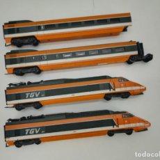 Trenes Escala: COMPOSICIÓN TREN TGV ALTA VELOCIDAD LIMA 149711 ESCALA H0 (NO FUNCIONA). Lote 254161850